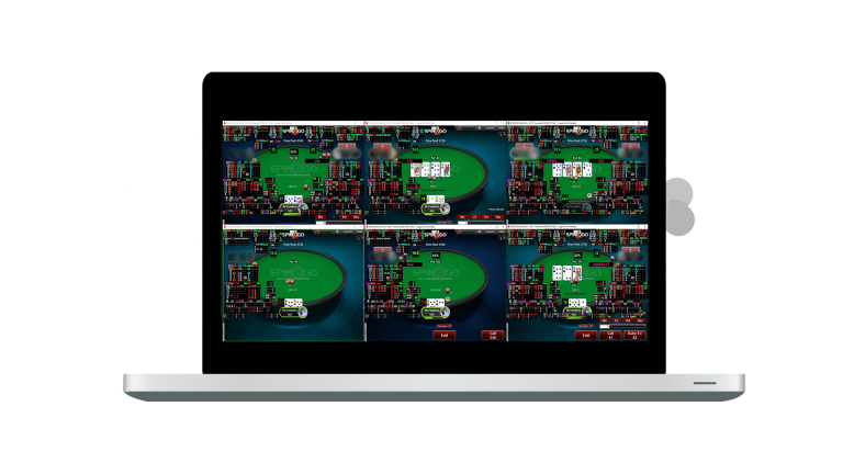 The picture shows a screenshot of online poker